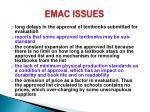 emac issues