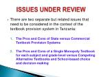 issues under review