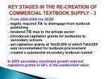 key stages in the re creation of commercial textbook supply 3