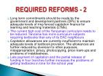 required reforms 2