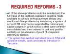 required reforms 3