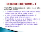 required reforms 4