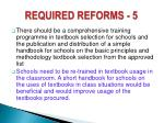 required reforms 5