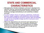 state and commercial characteristics
