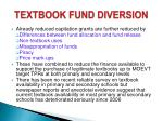 textbook fund diversion