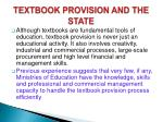 textbook provision and the state