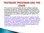 textbook provision and the state1