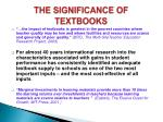 the significance of textbooks