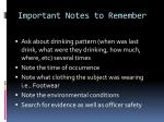important notes to remember1