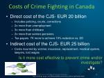 costs of crime fighting in canada