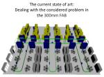 the current state of art dealing with the considered problem in the 300mm fab