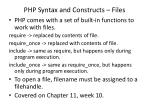 php syntax and constructs files
