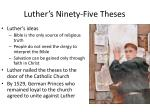 luther s ninety five theses1