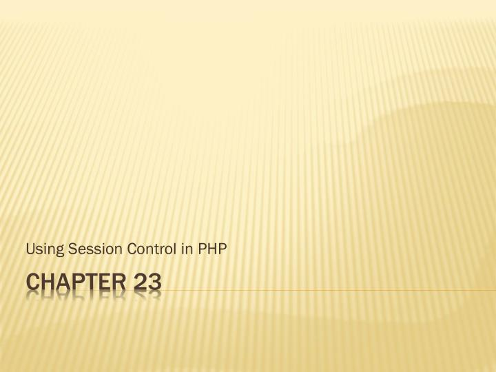 using session control in php n.