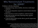 why nonstimulant treatments for adhd