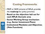 costing frameworks
