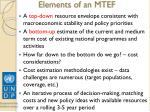 elements of an mtef