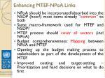 enhancing mtef npoa links