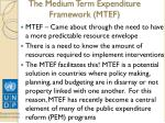 the medium term expenditure framework mtef