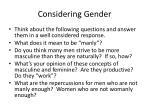 considering gender