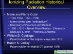 ionizing radiation historical overview1