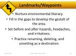 landmarks waypoints2