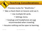 teaching considerations1