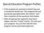 special education program profiles1