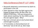yalta conference feb 4 th 11 th 1945