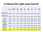 is edexcel the right exam board