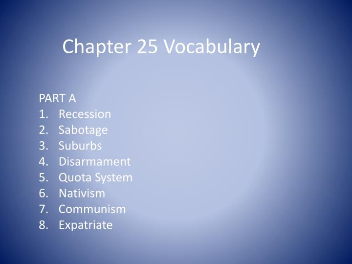 chapter 25 vocabulary n.