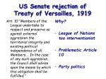 us senate rejection of treaty of versailles 1919