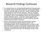 research findings continued3