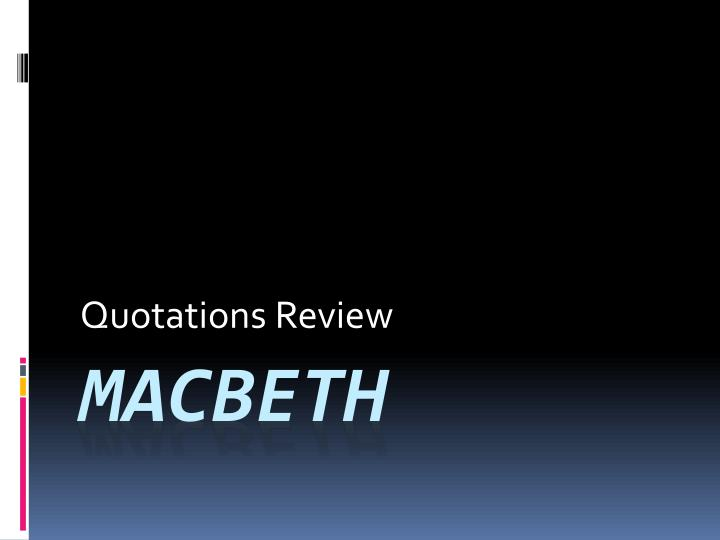 quotations review n.