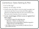 canterbury tales setting plot