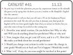 catalyst 41 11 13