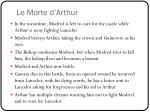le morte d arthur1