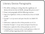 literary device paragraphs
