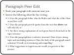 paragraph peer edit