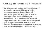 hatred bitterness hypocrisy1