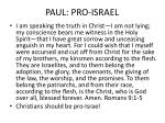 paul pro israel