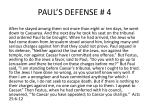 paul s defense 4