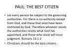 paul the best citizen
