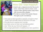 how do i u se inquiry