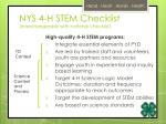 nys 4 h stem checklist interchangeable with national checklist