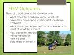 stem outcomes