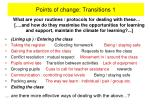 points of change transitions 1