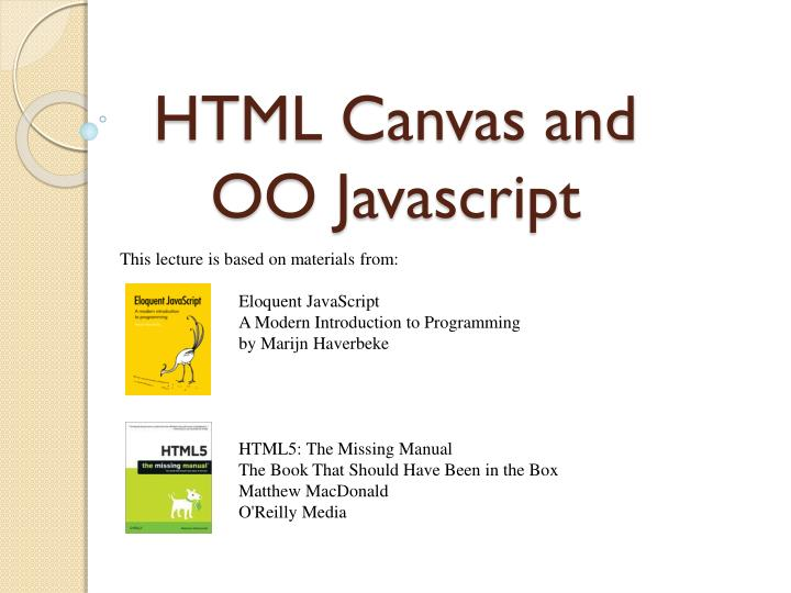 html canvas and oo javascript n.