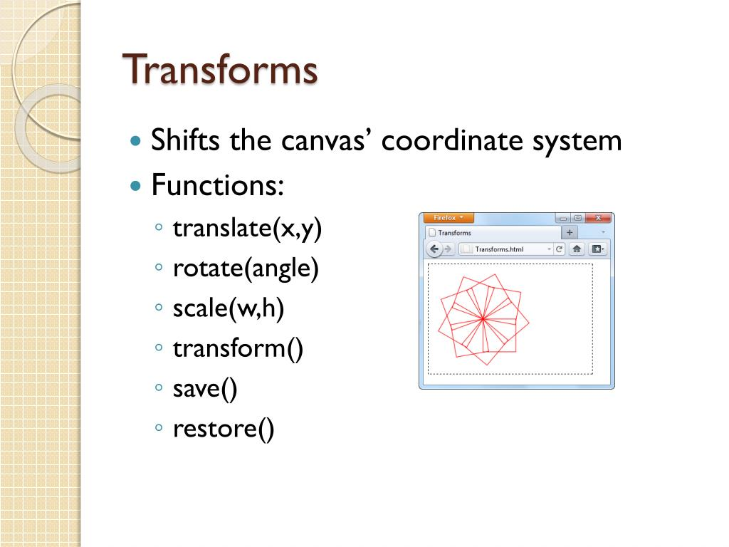 PPT - HTML Canvas and OO Javascript PowerPoint Presentation