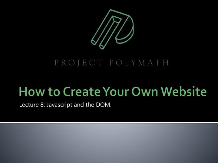 lecture 8 javascript and the dom n.